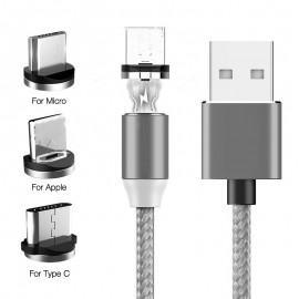 Tutew Magnetic Cable Micro USB Type C Cable For iPhone 11 Samsung Xiaomi Huawei Fast Charging Magnetic Charger USB C Cables 1M